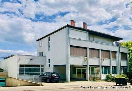 VERMIETUNGSANGEBOT – Provisionsfrei: Attraktives Büro-/ Lager-/Produktionsgebäude mit Wohnung