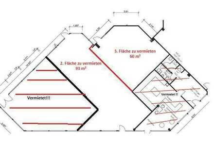 GEWERBEFLÄCHEN (93m² und 60m²) zu vermieten!! Geeignet für Einzelhandel, Gastronomie und Büros