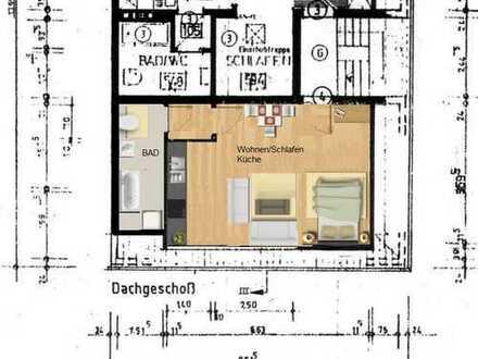 Gepflegte 1,5-Zimmer-DG-Wohnung mit Einbauküche in Dinslaken