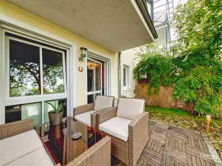 Rarität - 3 Zimmer Wohnung mit 2 eigenen Gartenanteilen und Terrassen in Moosach