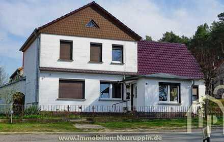 teilsaniertes Wohnhaus mit mögllicher Einliegerwohnung unweit von Neuruppin
