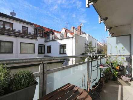 Vermietete 2,5-Zimmer-Wohnung mit Balkon in der Neustadt