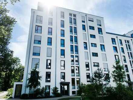 Neuwertige 3-Zimmer-Erdgeschosswohnung mit Süd/West-Garten und Blick zum Park in Unterschleißheim