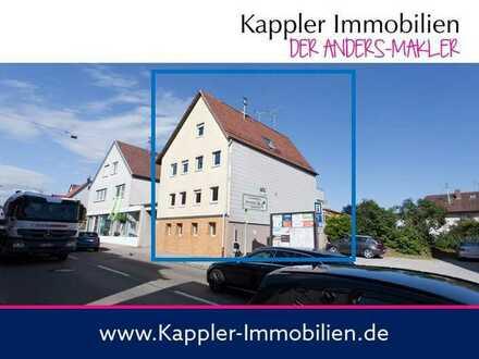 Mehrfamilienhaus mit 13 Zimmern bzw. 3-4 Wohnungen direkt an der B14 I Kappler Immobilien