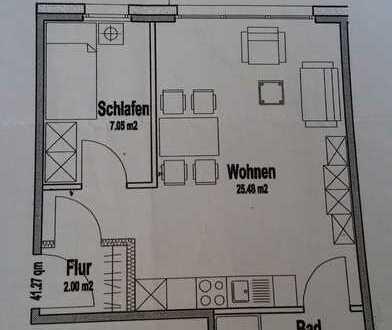 Teilmöblierte 2-Zimmer-Wohnung im schönen Münster-Gievenbeck