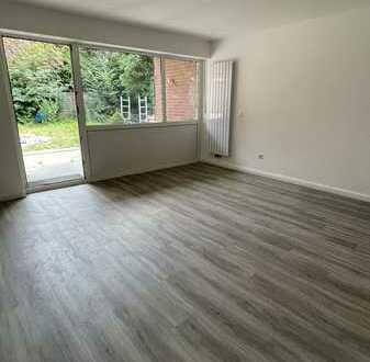 kernsanierte, ruhig gelegene 3 Zimmer Gartenwohnung mit Einbauküche
