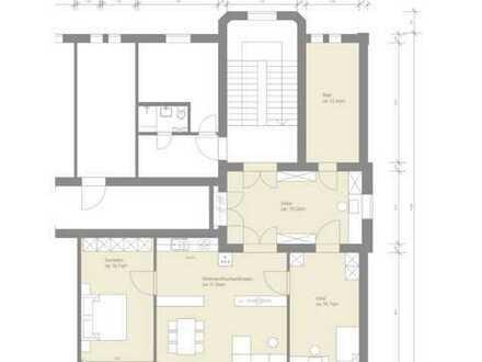 Vollständig renovierte 3-Zimmer-Wohnung mit Einbauküche in Kirchberg