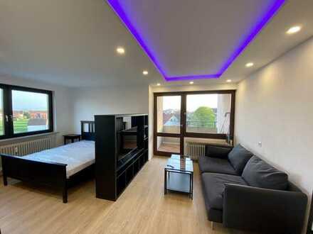 Exklusive möbilierte 1-Zimmer-Wohnung in Friedrichshafen/Berg mit Alpen- und Seesicht, Haussteuerung