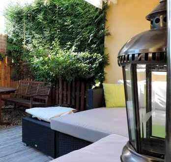 BESIGHEIM: 3,5-Zi.-EG-Whg. mit NEUEM Wellness-Badezimmer + Gartenterrasse. Inkl. EBK u. Garage