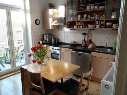 Jugendstil Wohnung mit Balkon und EBK in Bergedorf, Hamburg
