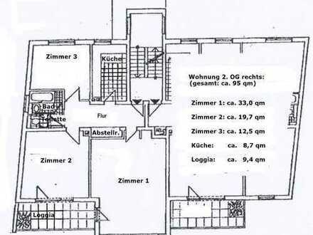 Johannisviertel / Sanierte 3-Zimmer-Wohnung mit Balkon und PKW Stellplatz