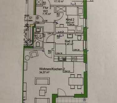 Erstbezug: schöne 3-Zimmer-EG-Wohnung mit Einbauküche und Balkon in Westerkappeln