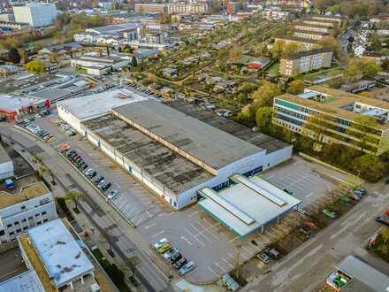 Zentrumsnahe Logistikflächen in ehemaligem Großmarkt zu vermieten