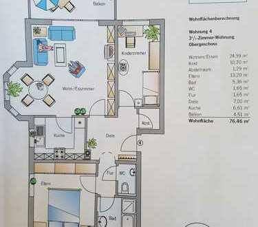 Helle 3,5-Zimmer-Wohnung mit Balkon und EBK in Bretzfeld