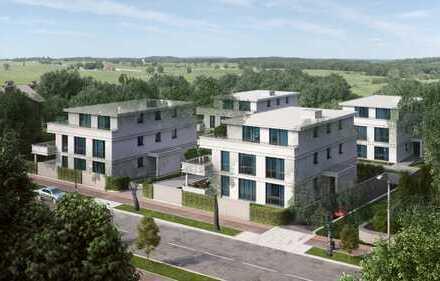 Provisionsfrei: Moderne Wohnung in Stadtvilla Neubau mit Balkon und freiem Blick in die Natur