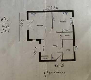 Freundliche 2-Zimmer-DG-Wohnung mit Balkon und Einbauküche in Oranienburg