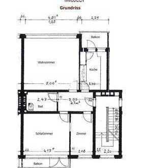 Frisch sanierte 2 1/2 Zimmer Wohnung