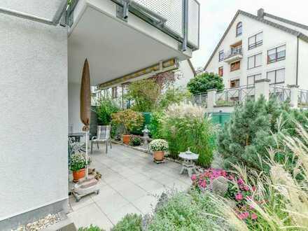 Helle und sehr gepflegte 3-Zi.-Whg. mit toller Terrasse und kleinem Garten in idealer Lage von WN