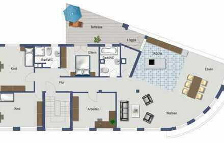 5-Zimmer-Wohnung in Bruchsal, WG geeignet
