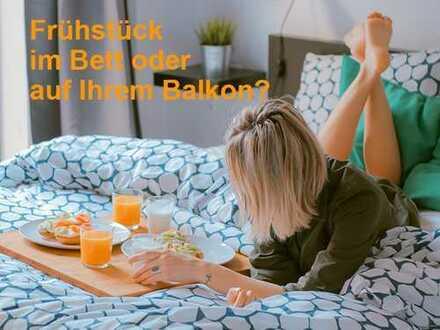 BETT ODER BALKON ... Frühstücksplatz auf 18 m² Südost-Balkon in unserer 3 Zimmer-Wohnung zu vergeben