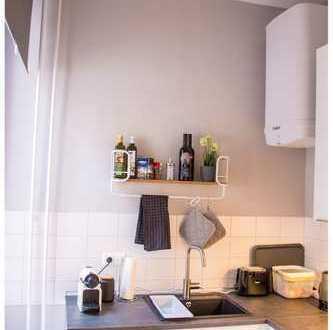 exklusives, möbliertes Zimmer #stylish-urban-apartment #semi-serviced #Sachsenhausen-Perle #Frankfur