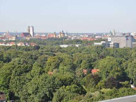 Terrassenwohnung mit Penthousefeeling, freier Blick über ganz München