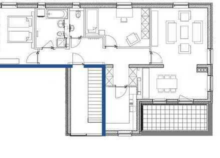 Großzügig geschnittene Neubau-Wohnung mit Dachterrasse