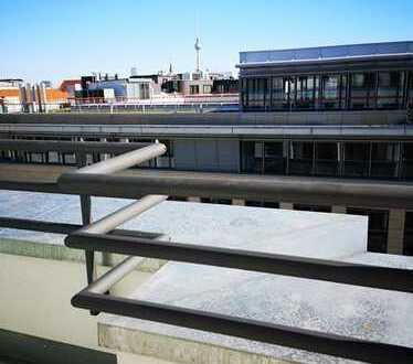 Blick auf den Fernsehturm - wunderschöne 2 Zimmer-Dachgeschoss-Wohnung