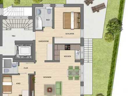Familiengerechte 3-Zimmerwohnung mit Gartenanteil!