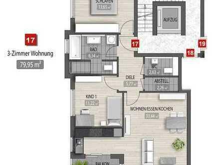 Ideal für das Alter: Zentrale 3-Zimmer-Neubau-Wohnung