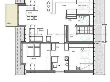 Neubau! Ruhige Lage in Borken! 3-Zimmer-Eigentumswohnung im Dachgeschoss mit Balkon