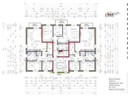 moderne Obergeschoss Wohnung im Zentrum von Issum
