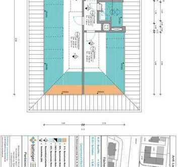 Exklusive 2-Zimmer-Dachgeschosswohnung mit Einbauküche in Dachau