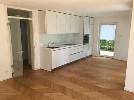 Stilvolle, neuwertige 4-Zimmer-Erdgeschosswohnung mit Garten und Einbauküche in Düsseldorf