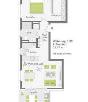 Großzügige 2-Zimmerwohnung mit Südloggia