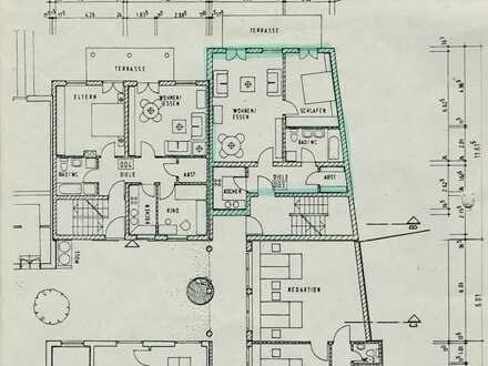 Sanierte Erdgeschosswohnung mit zwei Zimmern sowie Balkon und Einbauküche in Eichstätt