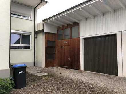 Büro mit Werkstatt und Garage