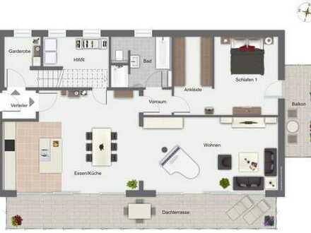Exklusives Wohnen auf zwei Ebenen- Neubau!