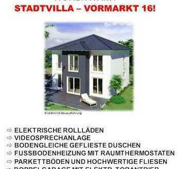 Moderne Stadtvilla mit Walmdach u. Garten im Zentrum von Hohenwart! FBH / Elektr. Rollläd. / Videos.