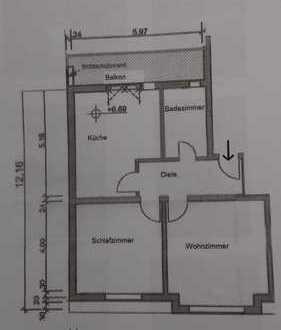 Modernisierte 2-Zimmer-Wohnung mit großem Balkon in Dortmund - Lütgendortmund