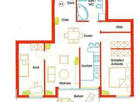 Moderne 3,5-Zimmer-Wohnung mit Balkon und Einbauküche in Böblingen (auf dem Flugfeld)