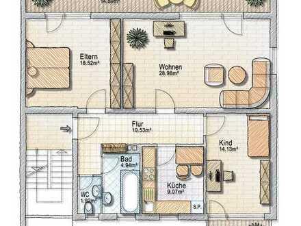 Schöne Drei-Zimmer-Wohnung, Komplettrenovierung abgeschlossen.
