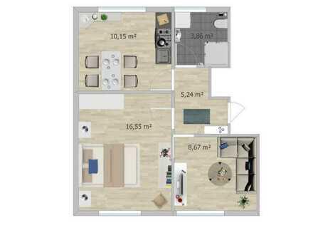 Möblierte 2 Zi. DG-Wohnung in zentraler Lage in Karlsruhe, neu saniert