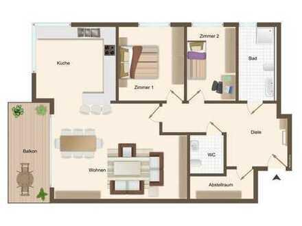 Wohnung 1: 3 Zimmer im Erdgeschoss mit ca. 116 m²