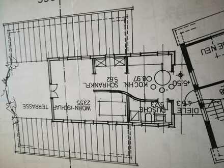 Neuwertige 1,5-Zimmer-DG-Wohnung mit Balkon und EBK in Würzburg