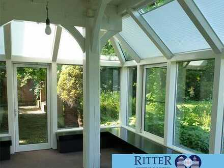 Helles Büro in großzügiger Grünanlage * EG ca. 100 m² * Wintergarten