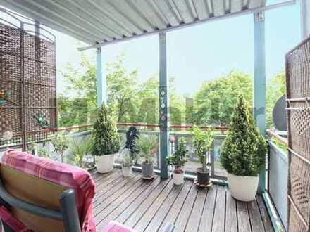 Gepflegte 3-Zimmer-Eigentumswohnung mit stilvollem Balkon in naturnaher Wohnlage