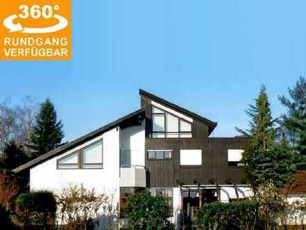 Villa (414 m² Wfl.) mit 1.079 m² Grundstück und genehmigter Erweiterungsoption in Dreieichenhain