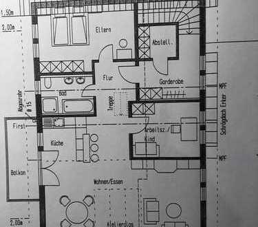 Neuwertige 3-Zimmer-DG-Wohnung mit Balkon und EBK in Meersburg