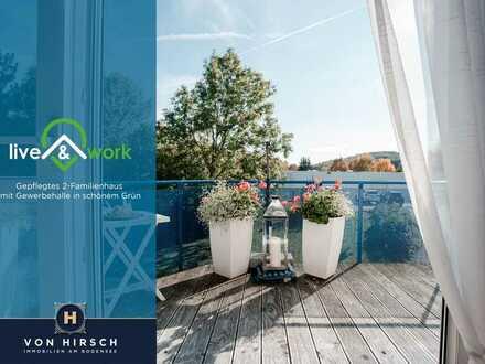 Live & Work - Rendite und Eigenheim in schönem Grün